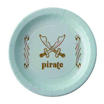 Assiette en carton Pirate Pastel