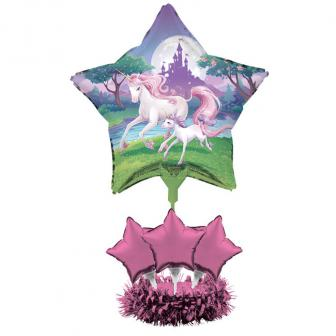Centre de table licorne parme