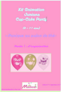 Kit animation fête juniors cup-cake Party 8-11 ans