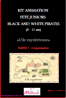 Kit animation fête juniors Black and White Pirate 8-11 ans