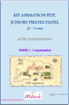 Kit animation fête juniors Pirate Pastel 8-11 ans
