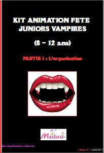 Kit animation fête juniors vampires 8-11 ans