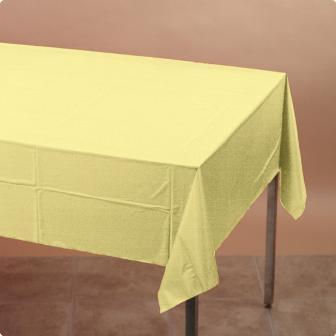 Nappe plastique jaune