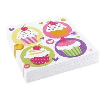 Serviette papier Cup-cake Party